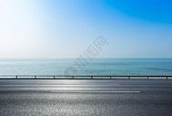 海边公路背景图片