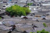 丽江古城老建筑全景图片