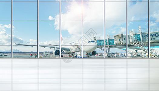 机场大厅背景素材图片