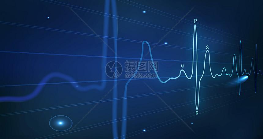 唯美图片 科学技术 医疗心电图jpg图片