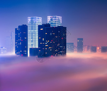 云雾中的海市蜃楼图片