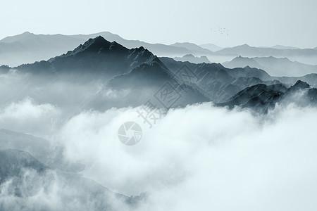 山脉云海风景图片