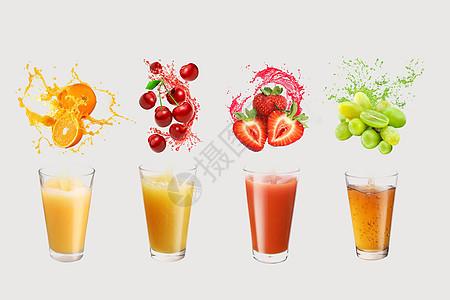 健康绿色果蔬饮料图片