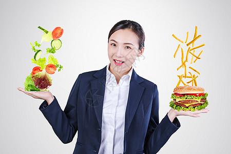 选择健康食物图片