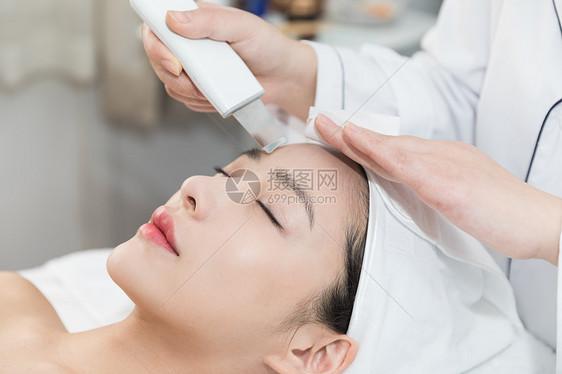 SPA美容院面部清洁图片