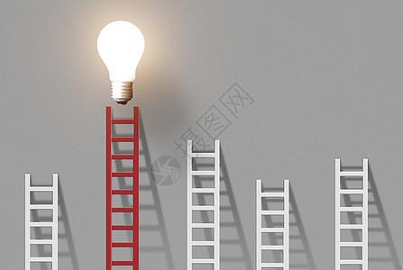 梯子上的光明图片