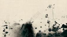 充满中国风的水墨古韵荷花图片