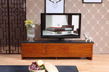 茶几电视柜实拍图图片