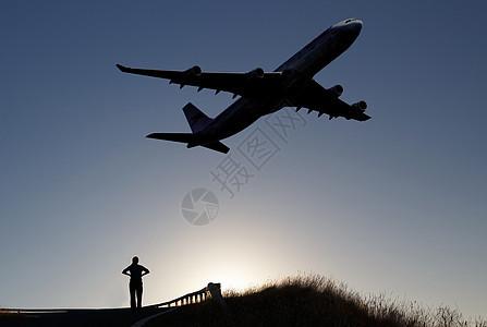 飞过头顶的运输机图片
