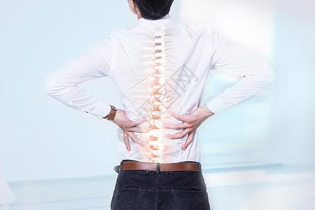脊椎腰部疼痛图片