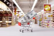 超市购物消费付款图片
