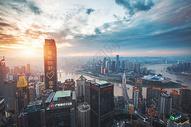 重庆城市日落傍晚风光图片
