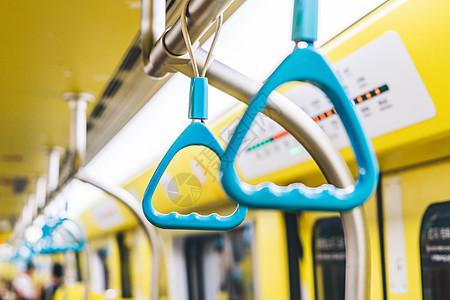 地铁车厢内扶手图片