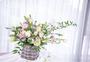 原生青藤,藤编工艺小花篮,结合花艺最大限度保留自然形态图片