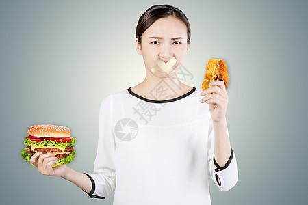 解释减肥的女性图片