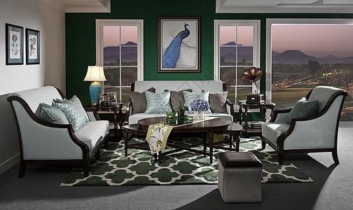 美式布艺沙发图片