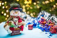 圣诞节雪人玩偶图片