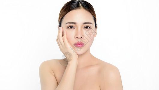 美女做完面膜皮肤光泽图片