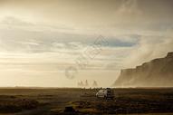 冰岛笔架山暮霭图片