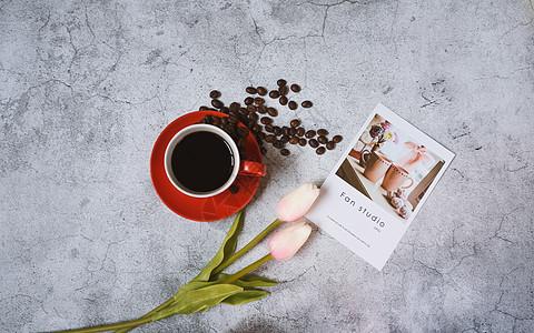咖啡与花香图片