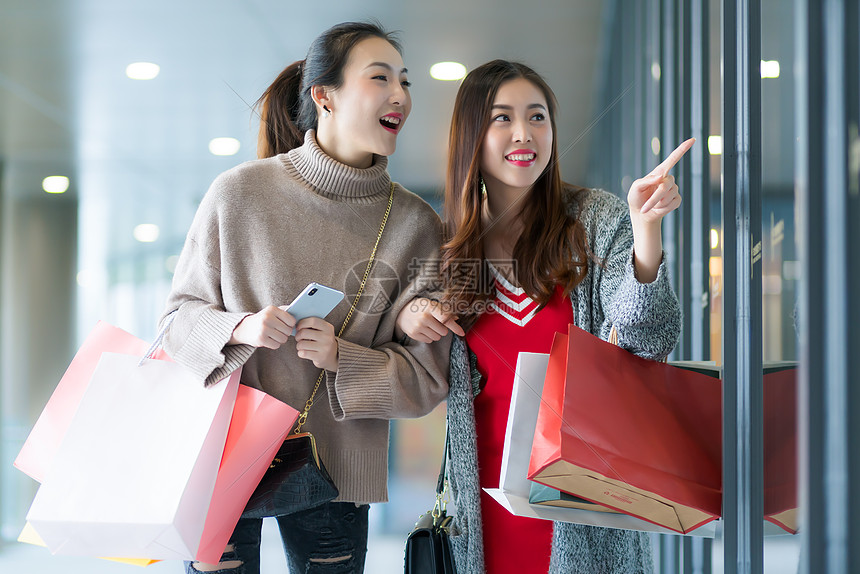 女性商城购物图片