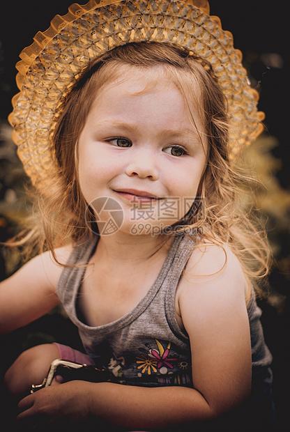 西方小女孩图片