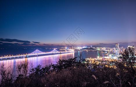 大连跨海大桥夜景图片