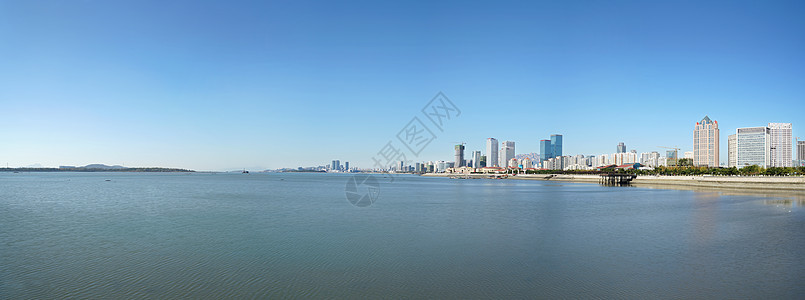 青岛黄岛海滨全景图片