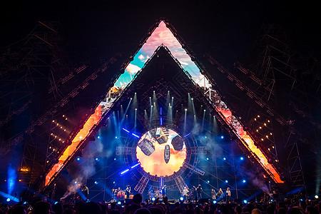 演唱会音乐节狂热舞台现场氛围图片