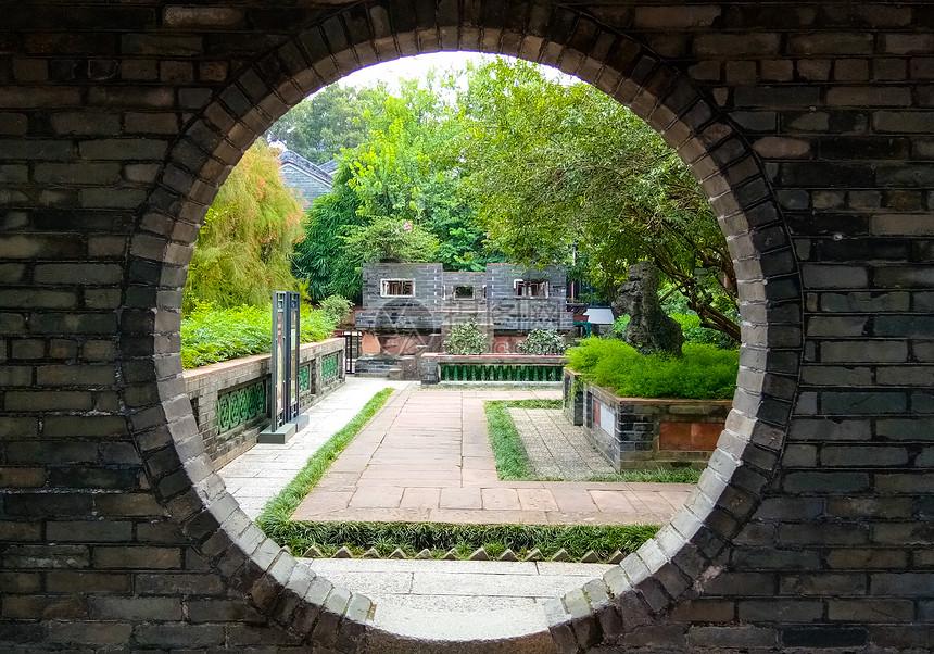 传统庭院一角图片