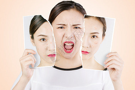 皮肤健康对比图片