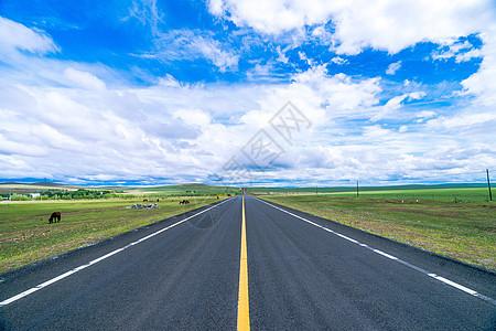 呼伦贝尔草原公路图片