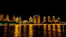 满洲里夜景图片