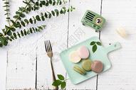 美味清新的马卡龙甜点图片