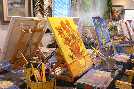 DIY油画画室绘画工具图片