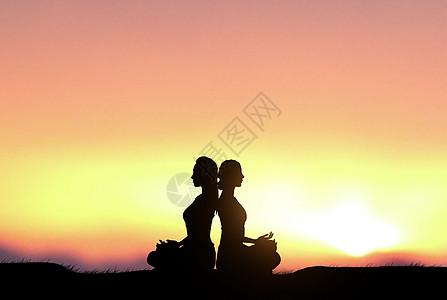 瑜伽女士图片