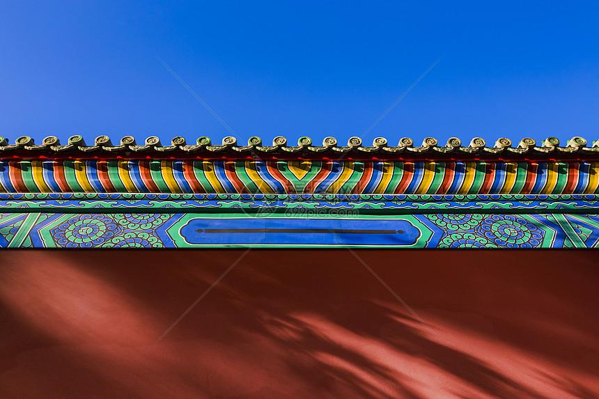 宫殿的红墙图片