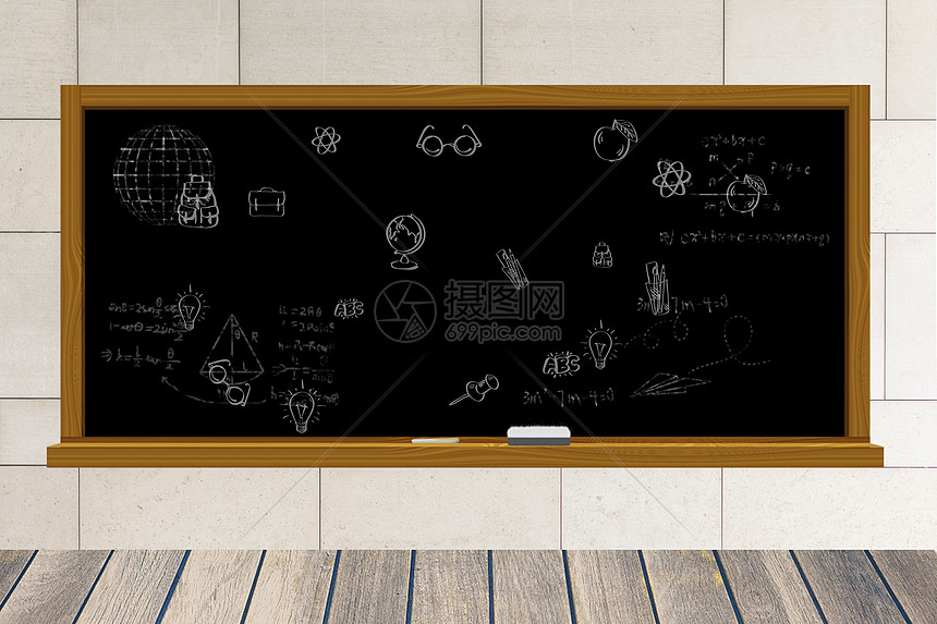 卧室中的黑板图片