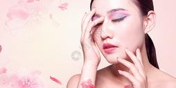 时尚美妆背景图片