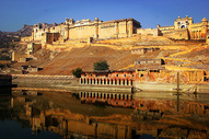 印度著名景点琥珀堡图片