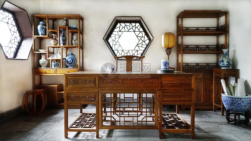 中国古典书房图片