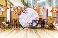 中式古典唯美婚礼合影背景墙图片