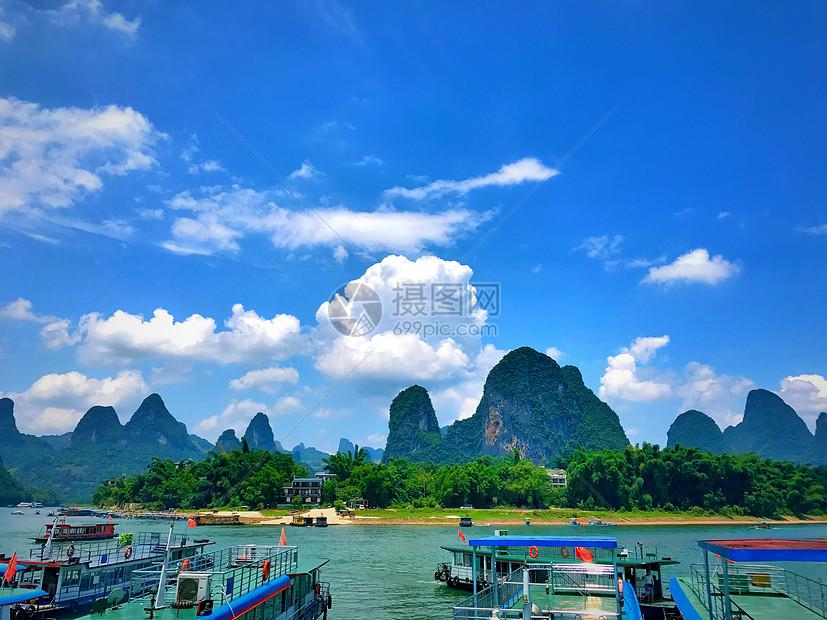 阳塑兴坪漓江码头图片