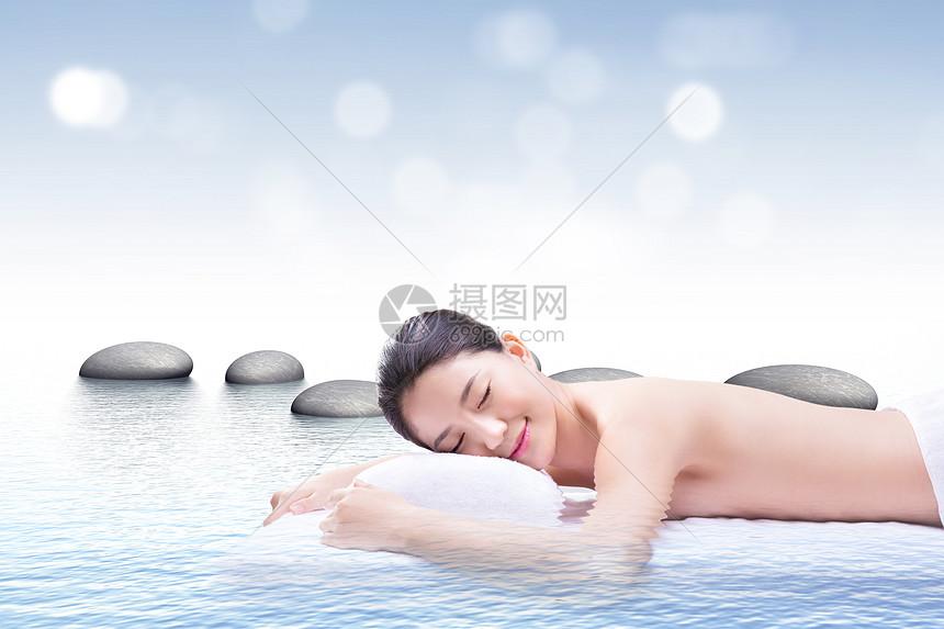 唯美spa养生背景图片