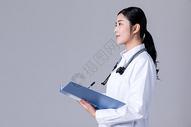 女医生看病历单写病历单500735150图片