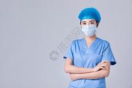 穿手术服的医生形象图片