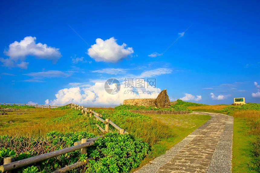 日本冲绳残波岬图片