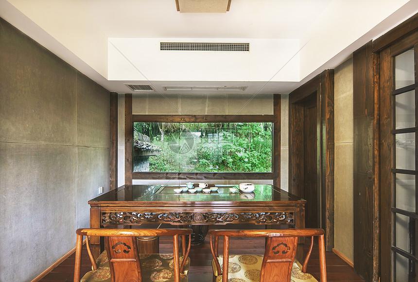 中式风格茶室图片