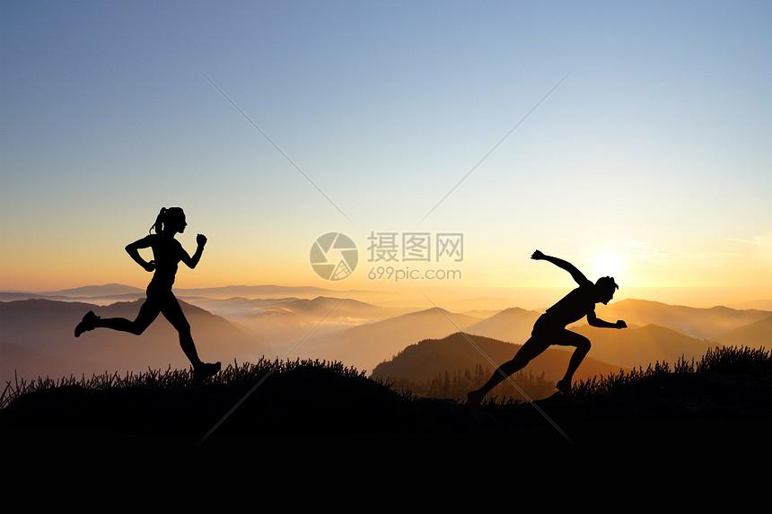 跑步运动图片