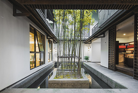 中式古典风格的庭院图片